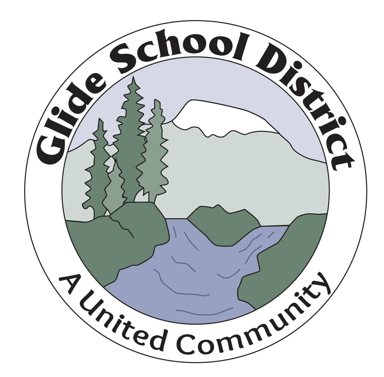 Glide School District Logo